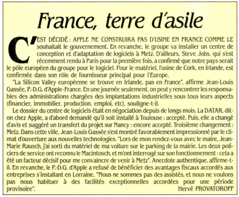 Apple France Technopole Metz