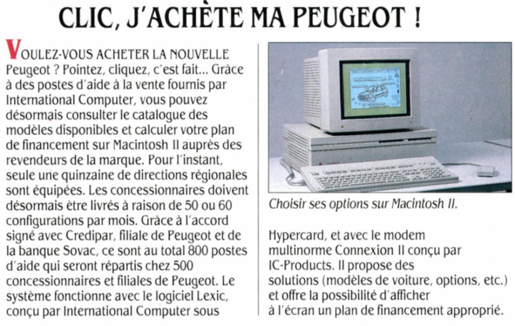 Peugeot Macintosh II