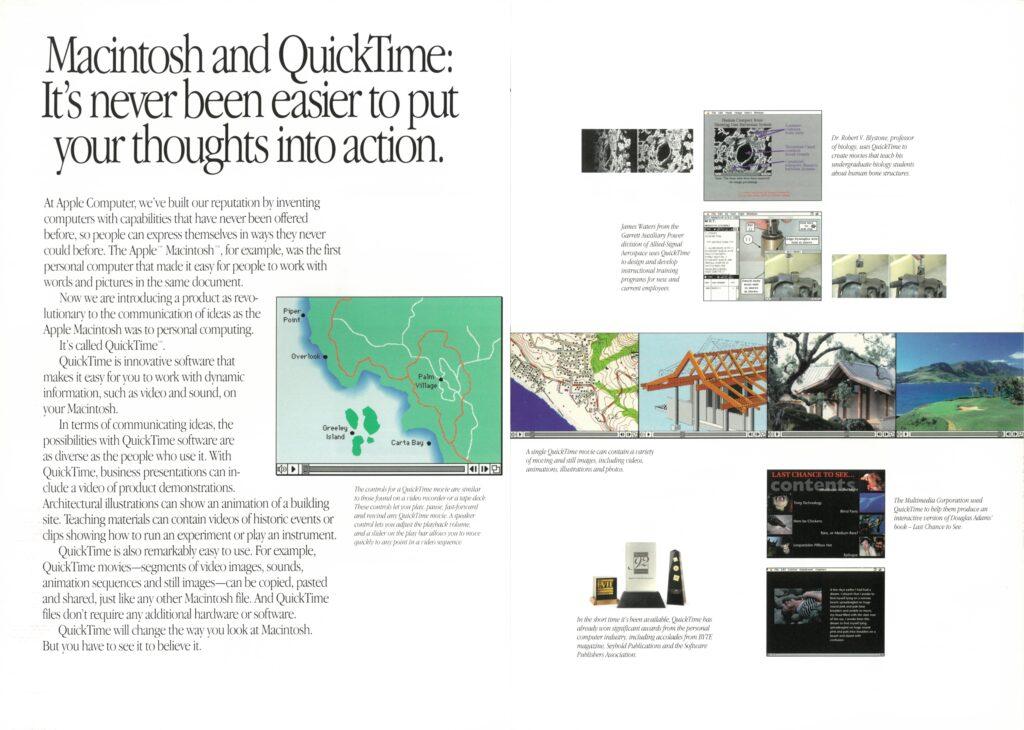 Brochure Apple 1992 - QuickTime