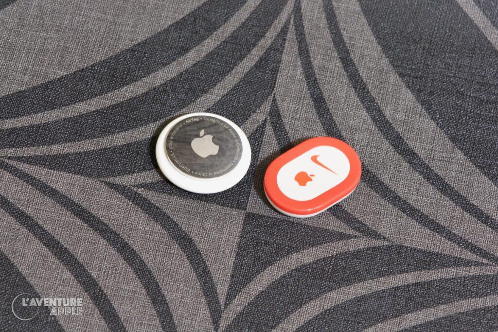 Apple AirTag et Nike+ iPod sensor