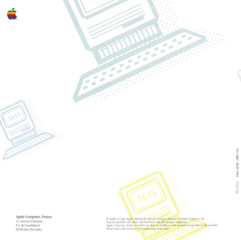 Brochure Apple France 36 15 APPLE Minitel