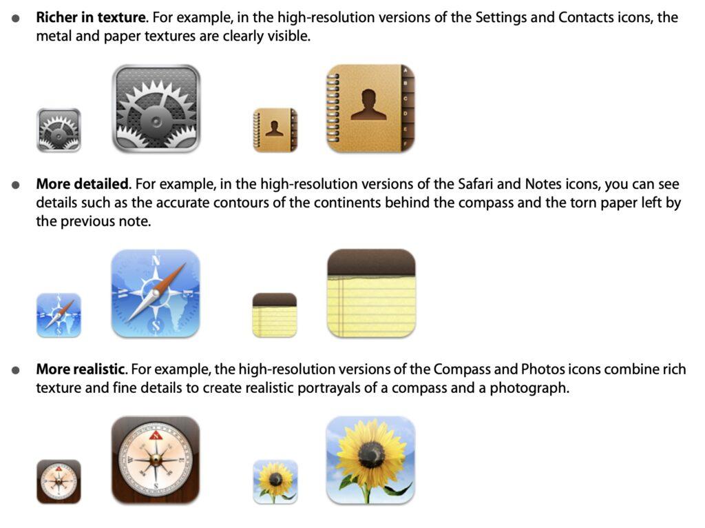 apple human interface guidelines skeuomorphisme