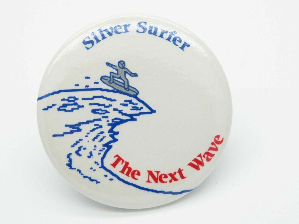 4D silver surfer badge