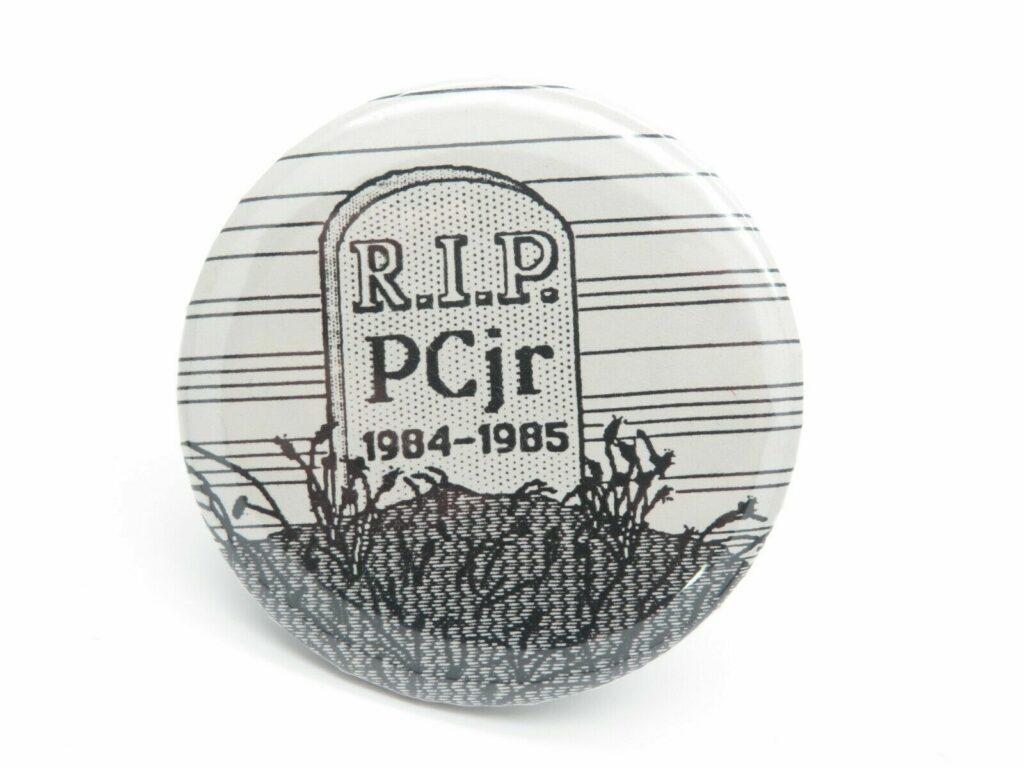 Apple RIP IBM PC junior badge