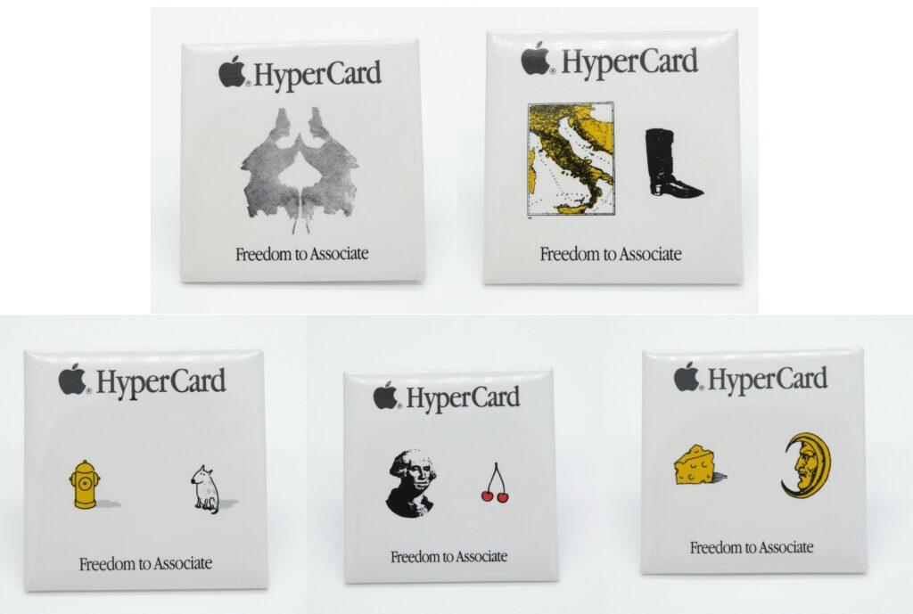 Badges Apple Hypercard Freedom to associate
